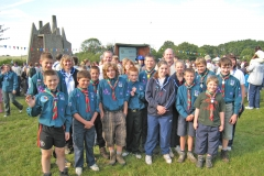 The campers at the Scouting Sunrise event on 1 August