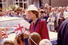 HRH Princess Alexandra arriving by car