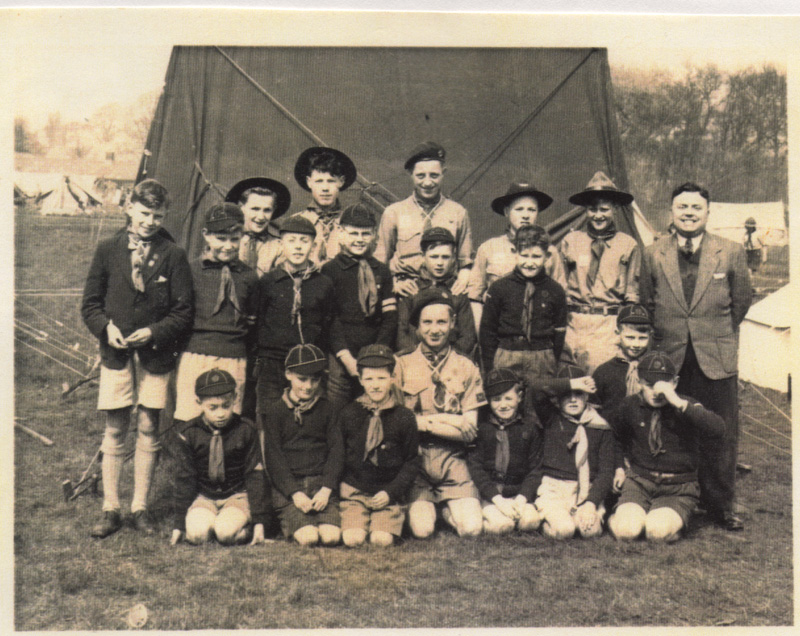 The 16th in camp in 1952 at Crosby Ravensworth.