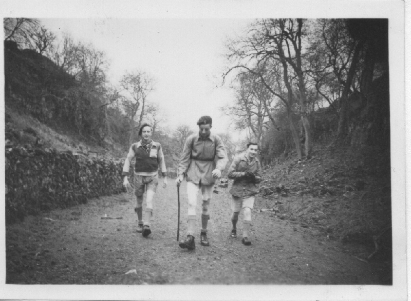 Day hike from Millhead to Warton - Barry Ayre, Tony Bradburn & Frank Walmsley. But who took the photograph?