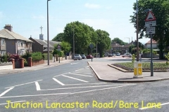 Junction of Lancaster Road and Bare Lane